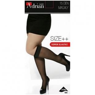 Adrian Magaly 15 denų kojinaitės iki kelių plius dydžio moterims
