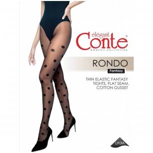 Conte Rondo moteriškos pėdkelnės su dideliais taškučiais