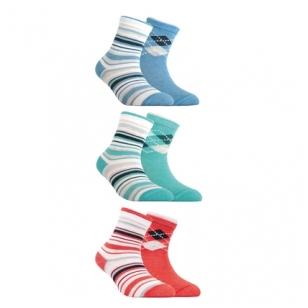 Conte Kids Tip-Top dryžuotos rombuotos spalvingos kojinės vaikams (2 poros)