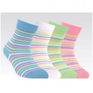 Conte Kids Tip-Top linksmos spalvingos kojinės vaikams Dryžiai