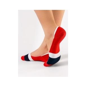 Conte klasikinės moteriškos spalvotos pėdutės - raudonos