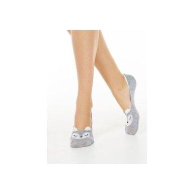 Conte klasikinės moteriškos nuotaikingos pėdutės - zuikių ausys