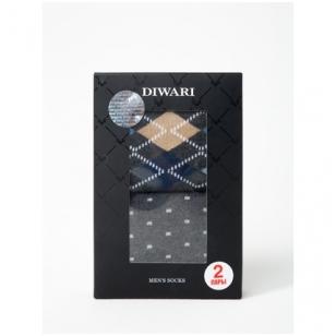 DIWARI vyriškos kojinės dėžutėje (2 poros)