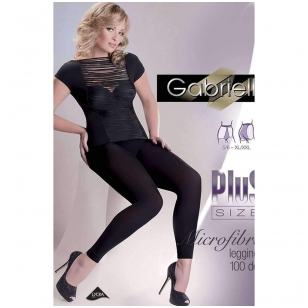 Gabriella tamprės Plus Size, 100 den su mikrofibra
