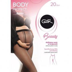 Gatta Beauty Body Protect Fashion 20 denų pėdkelnės besilaukiančioms - su taškiukais