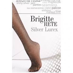 Gatta Brigitte Rete SIlver Lurex tinklinės žėrinčios pėdkelnės