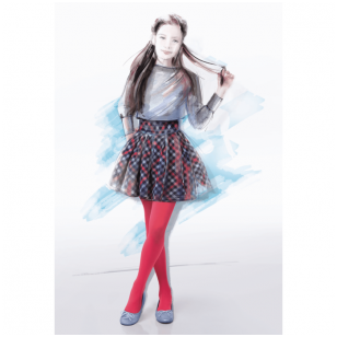Gatta Little Lady Line: Rosabella lygios pėdkelnės jaunoms damoms