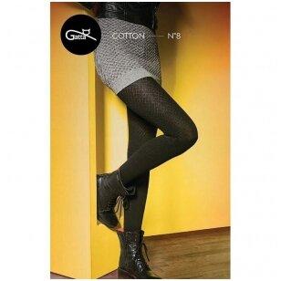 Gatta Trendy Line Cotton N8 storos mevilninės, aplinkai draugiškos, raštuotos pėdkelnės