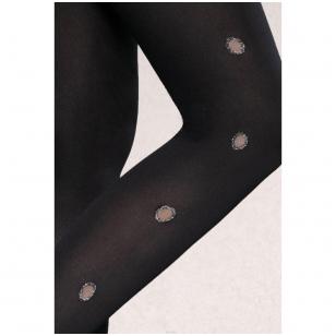 Gatta Trendyline Flash&Black 03 60 den dekoruotos pėdkelnės