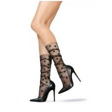 Lores Pisello Calzetto puošnios dekoruotos ilgos krentančios kojinaitės