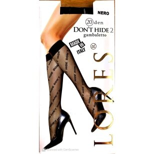 Lores Don't Hide 20 den juodos madingos kojinaitės