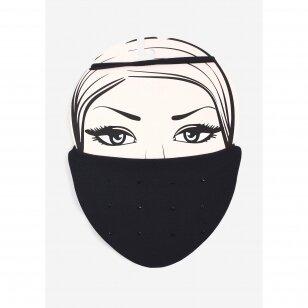 Marilyn Diamond 2 daugkartinio naudojimo kaukė su sidabro jonais bei dekoruota matiniu dekoru