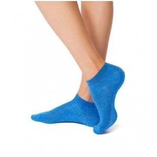 Moteriškos žvilgančios kojinaitės - juodos, mėlynos, pelenų