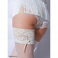 Puošnios prilimpančios kojinės Wedding by Gatta Bella Donna 03