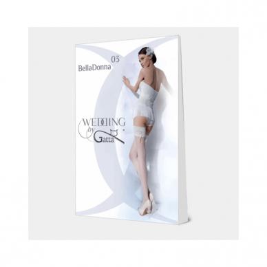 Puošnios prilimpančios kojinės Wedding by Gatta Bella Donna 03 6