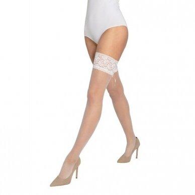 Puošnios prilimpančios kojinės Wedding by Gatta Bella Donna 03 5