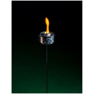 Spalvotos liepsnos žvakė - ORANŽINĖ