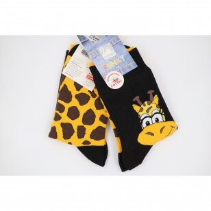 Wola Funky spalvingos skirtingos kojinės - Žirafos