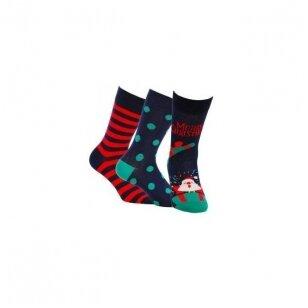 Wola kojinės kalėdinėje pakuotėje (3 vnt.) - 2 variantas