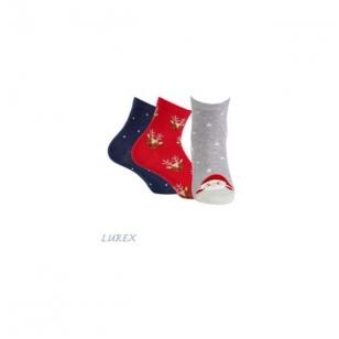 Wola moteriškos kojinės kalėdinėje pakuotėje (3 vnt.) - 1 variantas