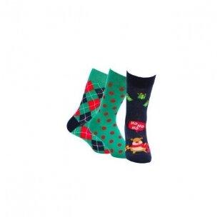 Wola vyriškos kojinės kalėdinėje pakuotėje (3 vnt.) - 3 variantas