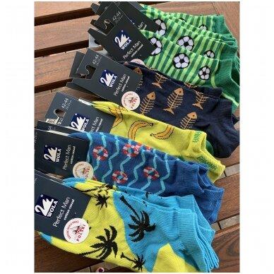 Wola Perfect Man medvilninės kojinės iki kulkšnių - palmės 2