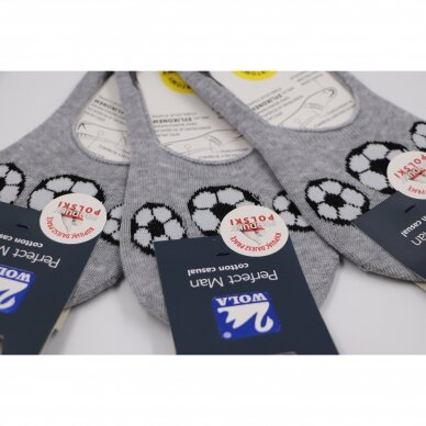 Wola Perfect Man medvilninės pėdutės - Futbolas 2