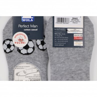 Wola Perfect Man medvilninės pėdutės - Futbolas 3
